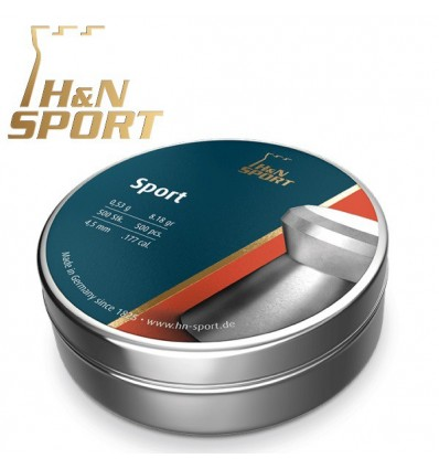 Balines H&N Sport 0,53g lata 500 unid. 4,5mm
